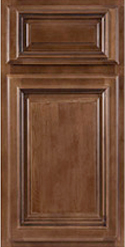 Cabinets with Coronet chocolate Finishes